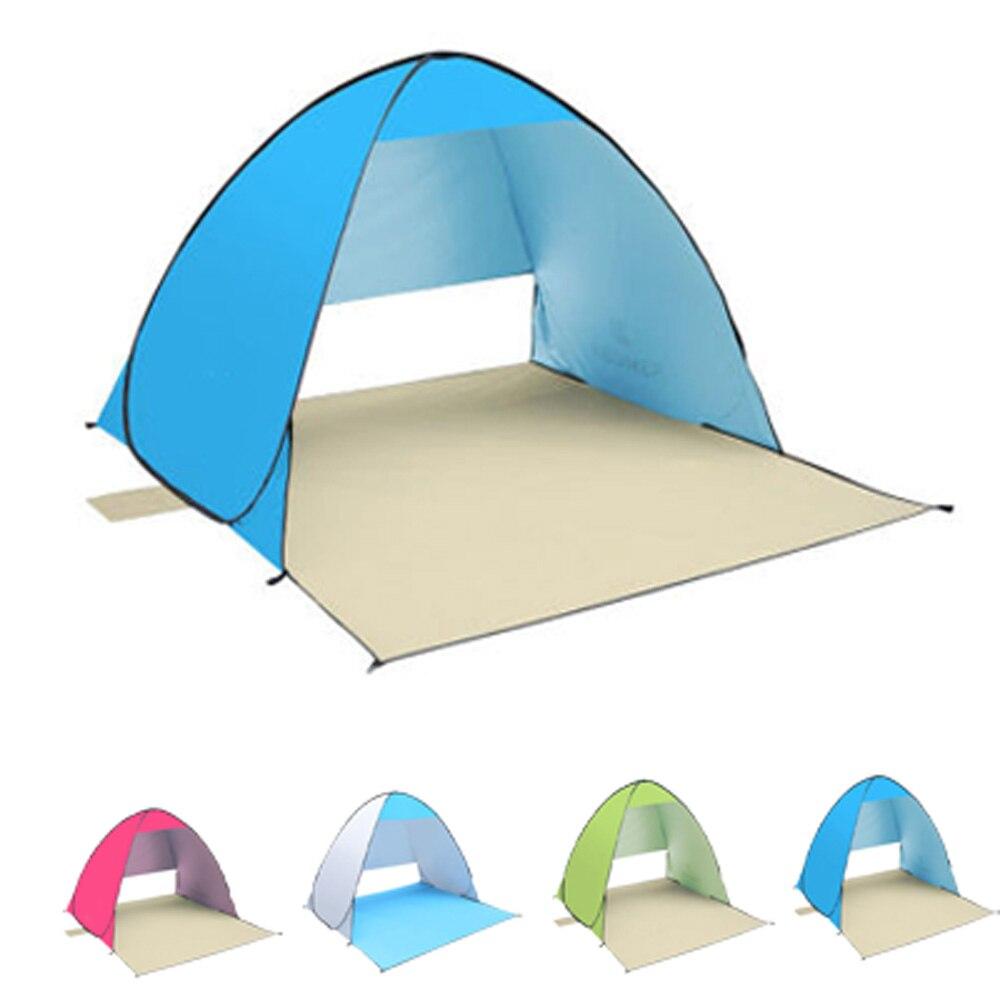 KEUMER uv-protection plage tente Camping Automic ouverture soleil abri plage parapluie pêche tentes étanche 190 T Polyester