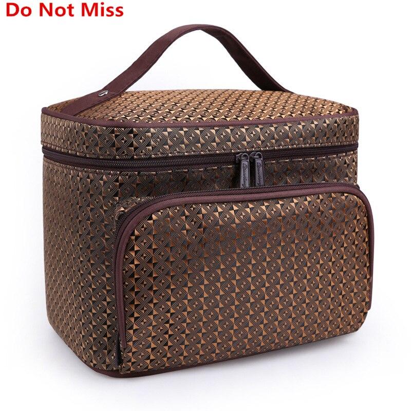 Do Not Miss Women Cosmetic Makeup Bag Folding Travel Makeup Organizer Bag Waterproof Cosmetic Bag Makeup