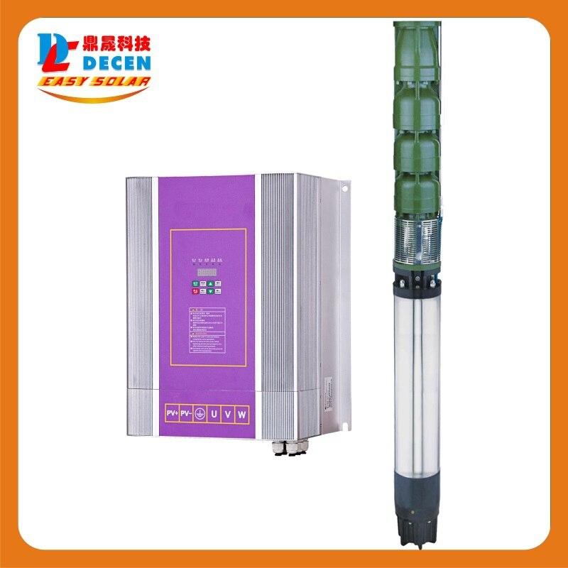 DECEN @ 4000 Watt Wasserpumpe + 5500 Watt PV Pump Inverter Für Solar pumpsystem Anpassung Wasser Kopf (50 32 mt), Täglich Wasserversorgung (60 100m3 - 3