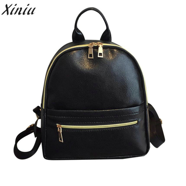 125e94006f Women s High Quality Vintage Designer Fashion Leather Solid School Bag  Simple Style Leisurely Pretty Style Travel Backpack Bag