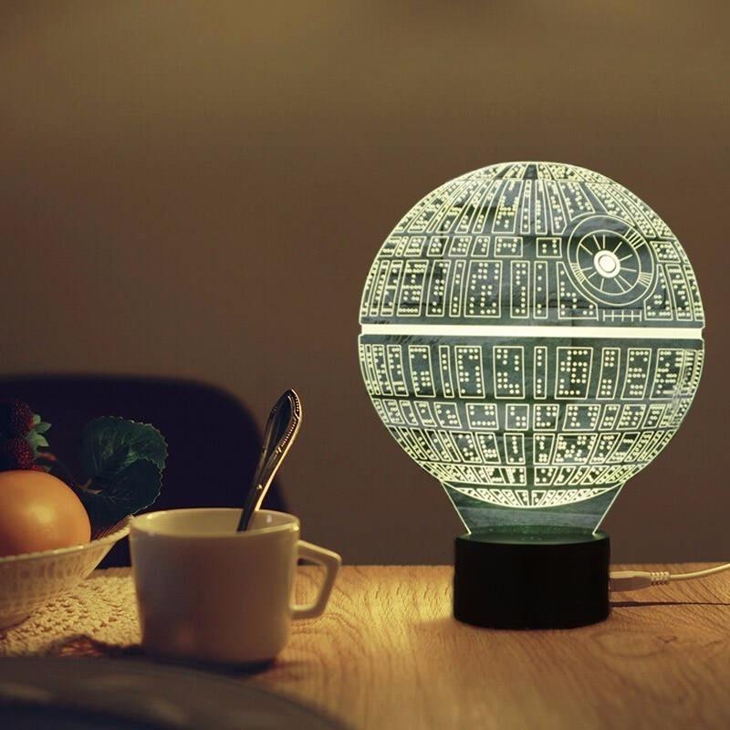 3D Lamp Star Wars Led Night Light Novelty USB Desk Lamp Kids Touch Sensor LED Table