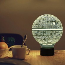 3D Lamp Star Wars Led Night Light Novelty USB Desk Lamp Kids Touch Sensor LED Table Light 7 Colors Changing Lava Lamp Nightlight