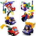 Nueva Extraíble de juguetes camión chico tuerca de montaje de juguetes rompecabezas de la motocicleta Kits de Edificio Modelo de juguete de regalo para niños