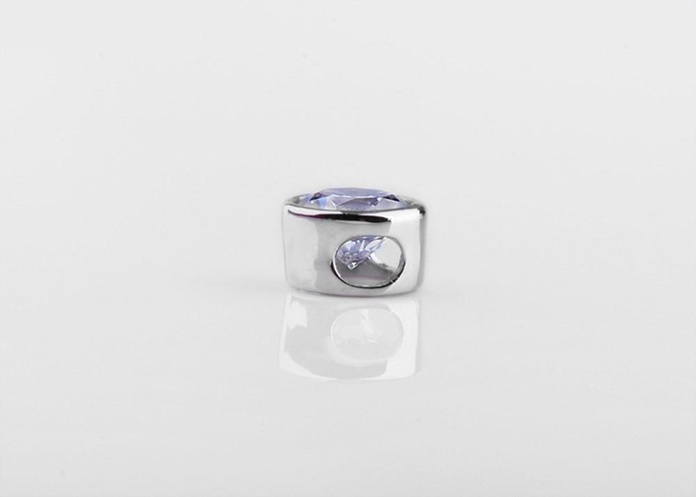 En gros 1 Carat Excellent pendentif Solitaire rond glisser diamant pendentif de fiançailles parfaitement 40 cm collier gratuit-in Pendentifs from Bijoux et Accessoires    3