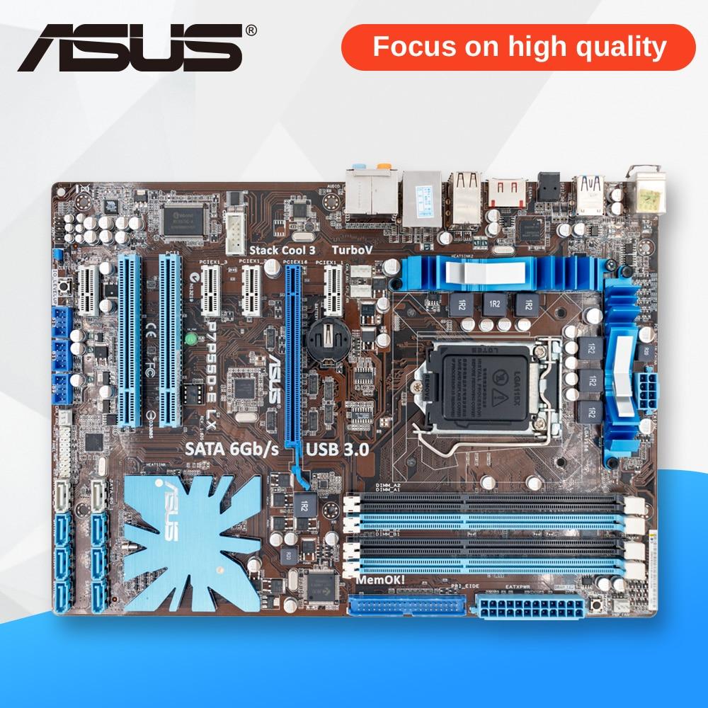 Asus P7P55D-E LX Desktop-Motherboard P55 Sockel LGA 1156 i3 i5 i7 DDR3 16G SATA3 USB3.0 Auf Verkauf ATX