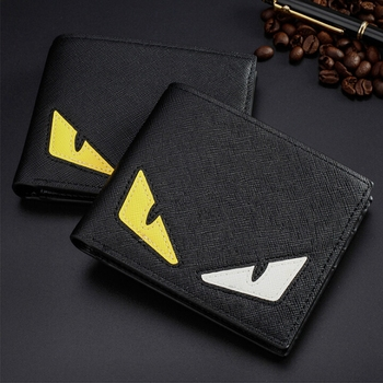 New Trend  PU Leather Mens Cluth Wallets Creative Cartoon Pattern Card Holder  Small Wallets for Men cartera para hombre tendencia
