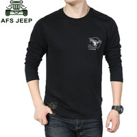 AFS JEEP Brand Clothes 2016 Autumn Casual Men S Tshirts Long Sleeve T Shirt Cotton Camisa