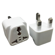 5PCS UK Plug White to EU Adapter 13A Universal  250V US AC Power Socket Charger Adaptor China Converter