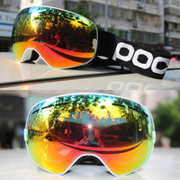 Men women ski goggles double Layer UV400 anti fog skiing snowboard glasses mask