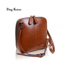 women new stylish retro  Genuine leather mini shoulder slung diagonal shell small bag