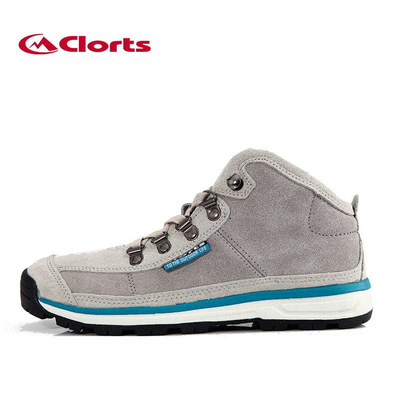 2016 Clorts Women Sport Shoes Cow Suede Outdoor Boots Mid-cut Hiking Shoes Breathable Canvas Shoes 3G025C kelme 2016 new children sport running shoes football boots synthetic leather broken nail kids skid wearable shoes breathable 49