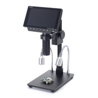 34MP 4K Digital HDMI USB Stereo Microscope Camera 5 LCD Screen Display THT SMD Soldering Tool Jewelry Appraisal Phone Repair