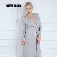 DEIVE Teger Вечеринка Мода 2017 длинный рукав длинный топ Двойка полной длины Для женщин Комбинезоны для женщин hl2677