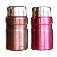 Beautiful Color Food Soup Thermos BPA-free Stainless Steel Vacuum Lunch Box For Kids 550ml