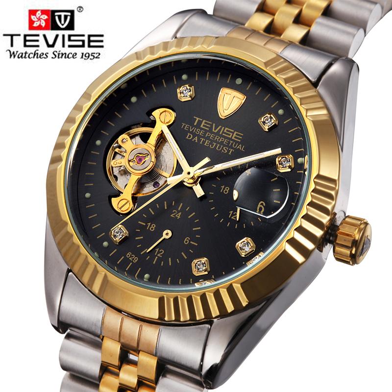 Prix pour Tevise automatique montre hommes montres mécaniques à remontage automatique top marque de luxe sport montre relogio masculino automatico