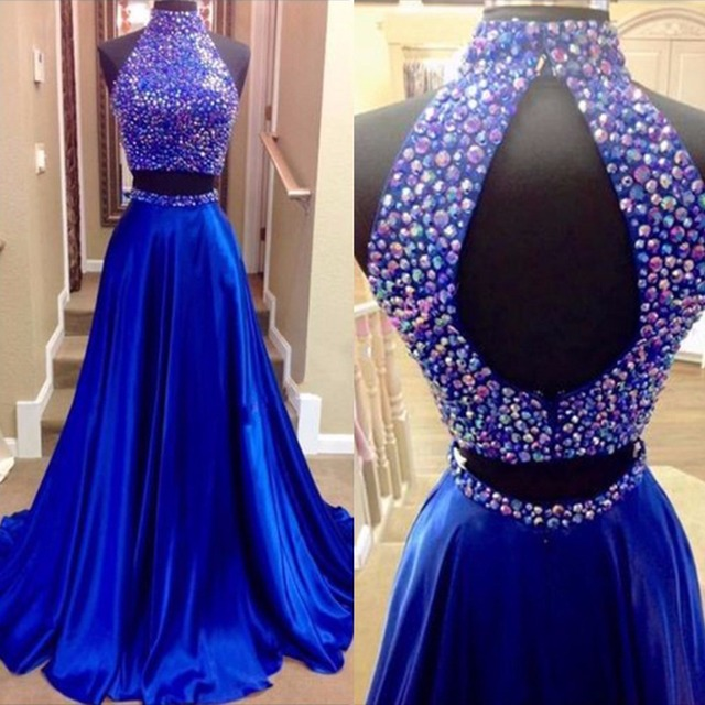 Blue and Dark Purple Dresses That Are Sparkly