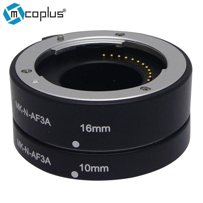 Mcoplus Meike N-AF3-A Metal Auto Macro Focus AF Extension Tube for Nikon 1 Mount Camera J1 J2 J3 V1 V2 macro extension tube for sony e mount ac ms silver grey