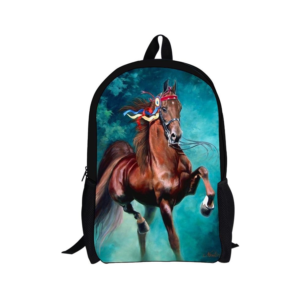 Fashion Horse Prints Children Backpack for Teenager Girls and Boys School bags,Animals Mochila for Child Schoolbags For Students