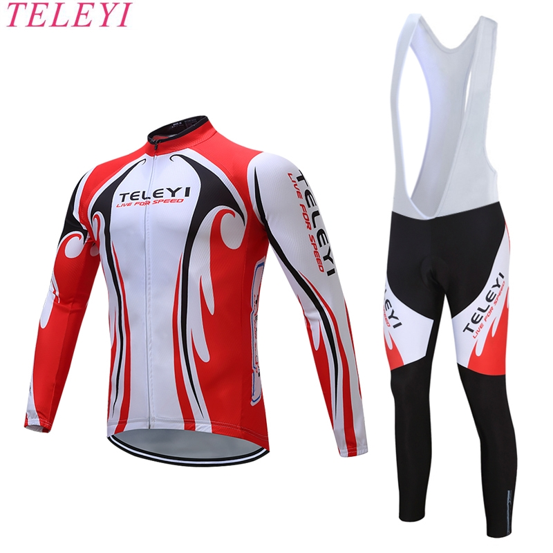 teleyi Kamiko Winter Pro Maillot Rock Bicycle Wear/Ropa Ciclismo Bike Clothing/Winter Thermal Fleece Cycling Clothing