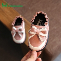 Claladoudou 11 8 13 8CM Kids Footwear Pink Lace Bowtie Shoes For Baby Green Soft Rubber