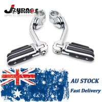 32mm Long Angled Mount 1 1 4 Highway With Streamliner Foot Pegs For Harley