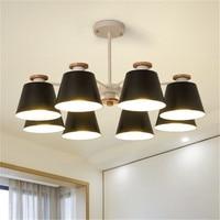 Nordic pendant chandelier modern wood metal lamp living room dining room table hanging lamps macarons lighting fixture