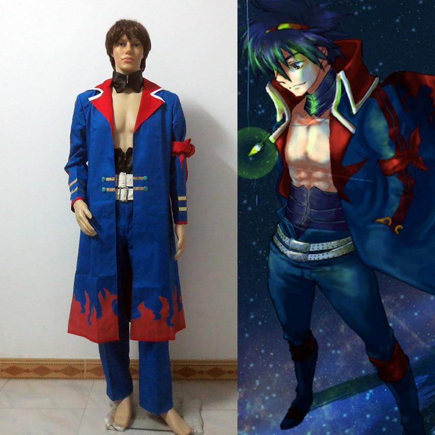 Tengen Toppa Gurren Lagann Captain Simon the Digger Teens Anime Cosplay Costume
