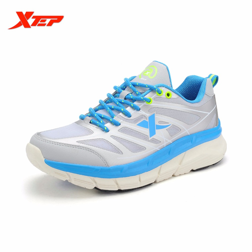 XTEP Men Running Shoes 2016 Sports Shoes Men's Athletic Sneakers Air Mesh Run Shoes Shock Resistance Trainers Shoes 984219119101