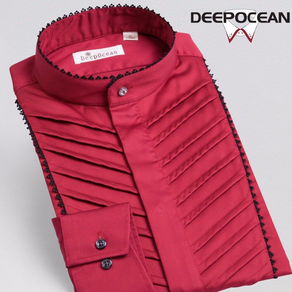 Deepocean Men Shirts British Style Shirt Men Clothes Fashion Long Sleeve Plus Size Casual Cotton Shirt Brand Clothing For Men