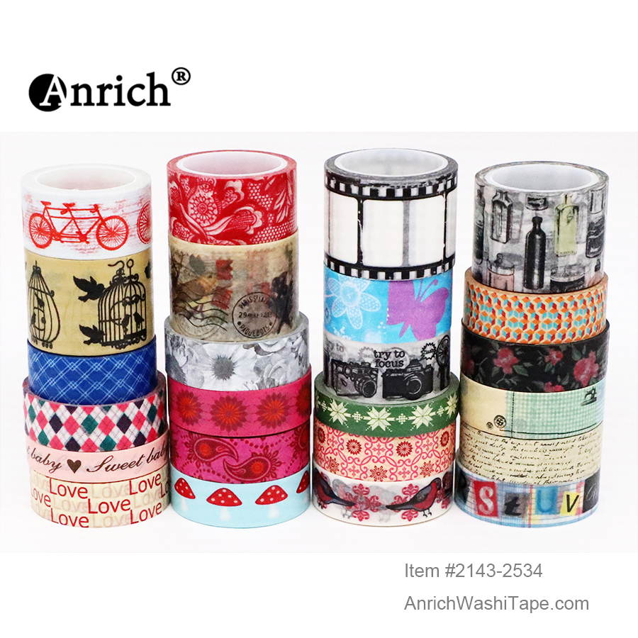 Free Shipping Washi Tape,Anrich Washi Tape #2183-2558,basic Design,colorful,customizable