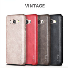 X-Level New Vintage Leather Phone Case For Samsung J3 J5 J7 Ultra Thin Protective Retro Back Cover For J310 J510 J710 (2016)