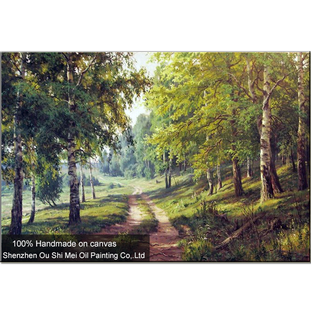 Famous Art Hand Painted Russian Landscape Oil Painting Wall Decor ...