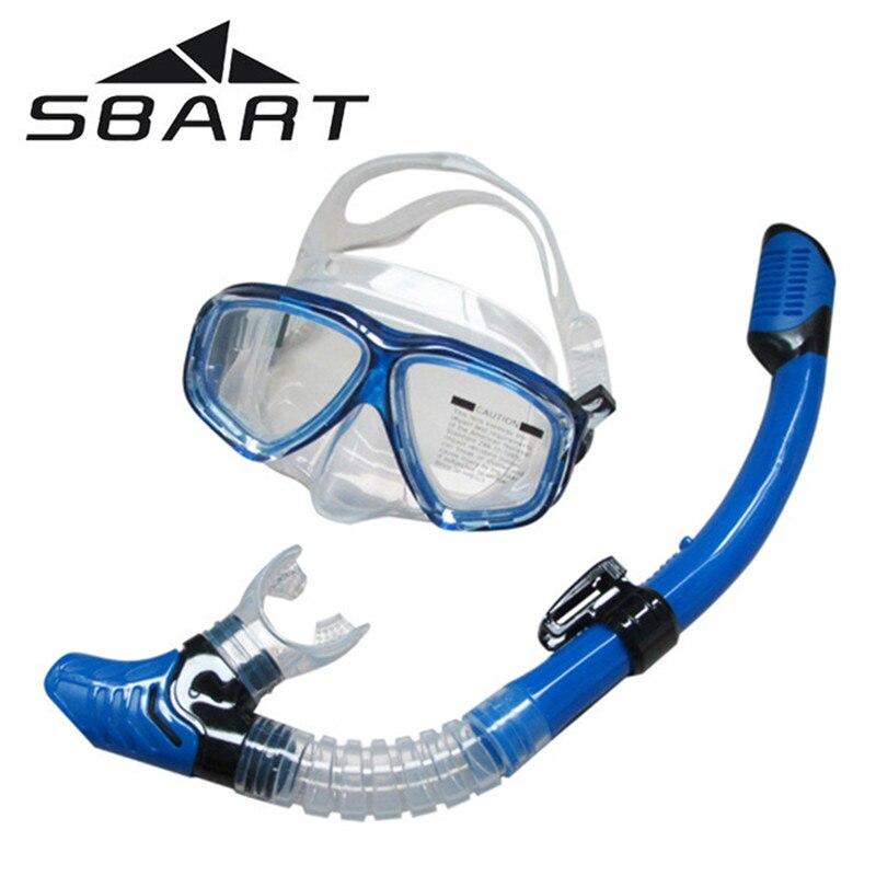 SBART professionnel Silicone masque de plongée équipement complet-tuba Anti-buée natation plongée en apnée lunettes de plongée lunettes