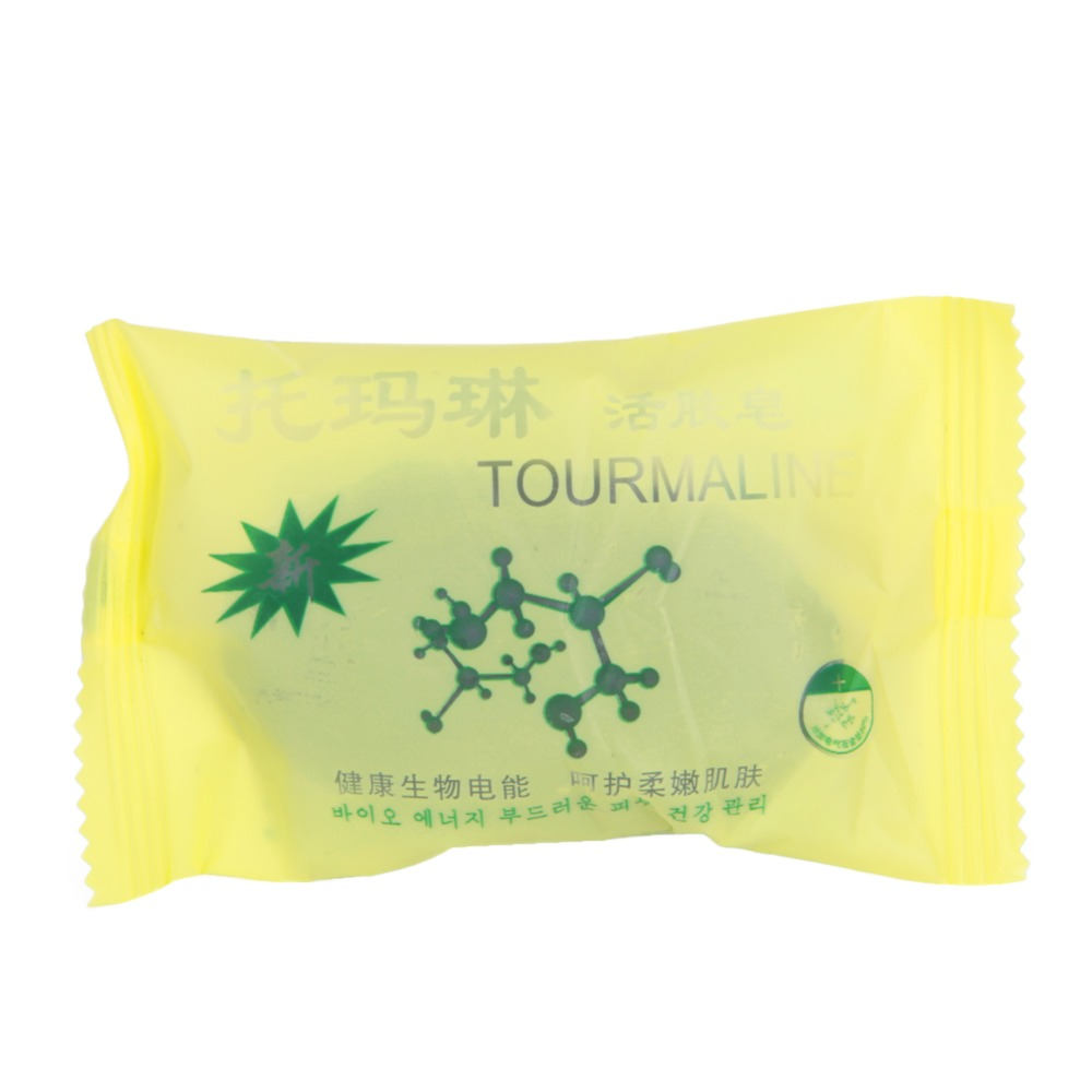 Tourmaline Bamboo Soap Traditional Charcoal Active Energy Herbal Soaps For Acne New