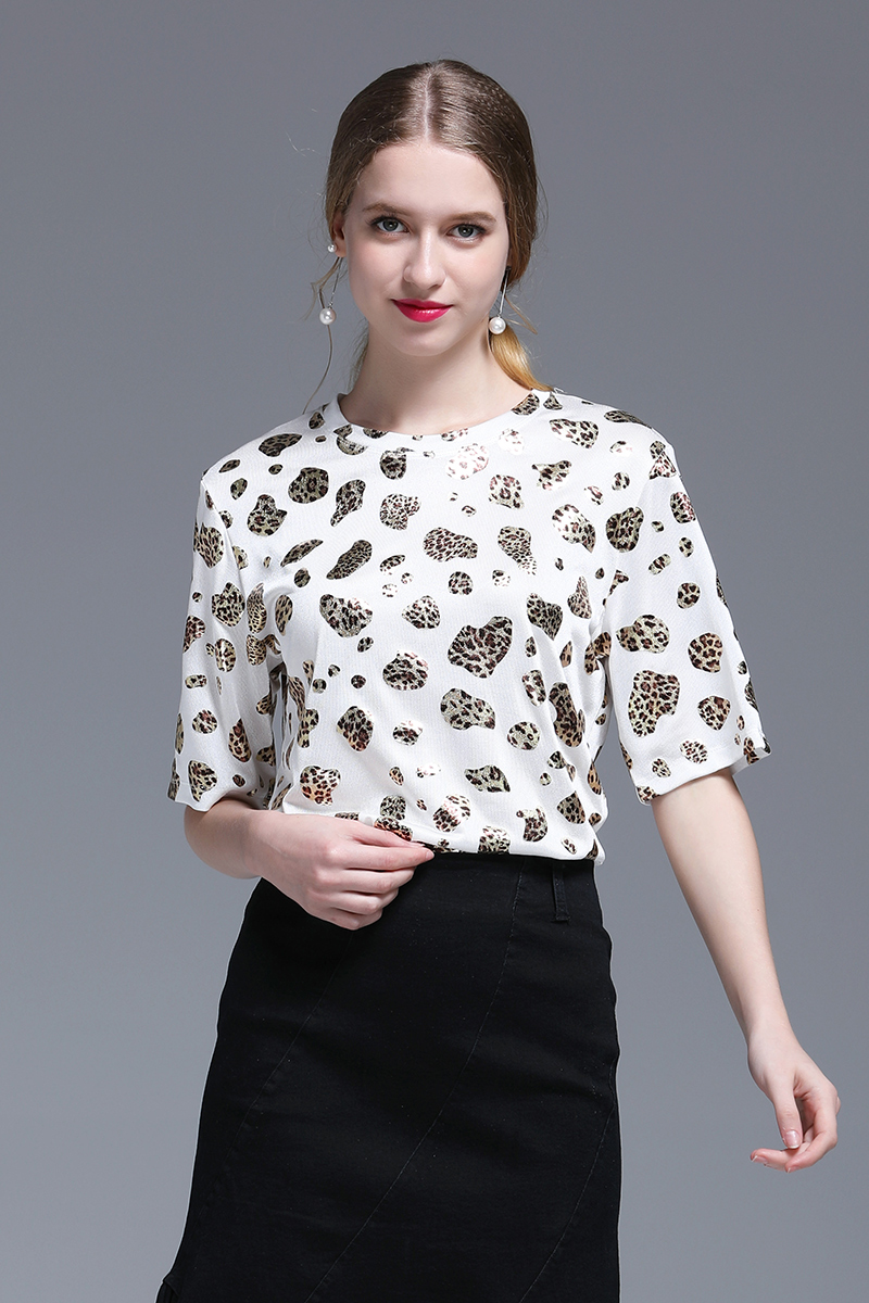 2019 Women 39 s Tops T shirt Short sleeved Cotton Ladies Shirt Round Neck Leopard Print Loose Harajuku T shirt Was Thin Lazy Wind in T Shirts from Women 39 s Clothing
