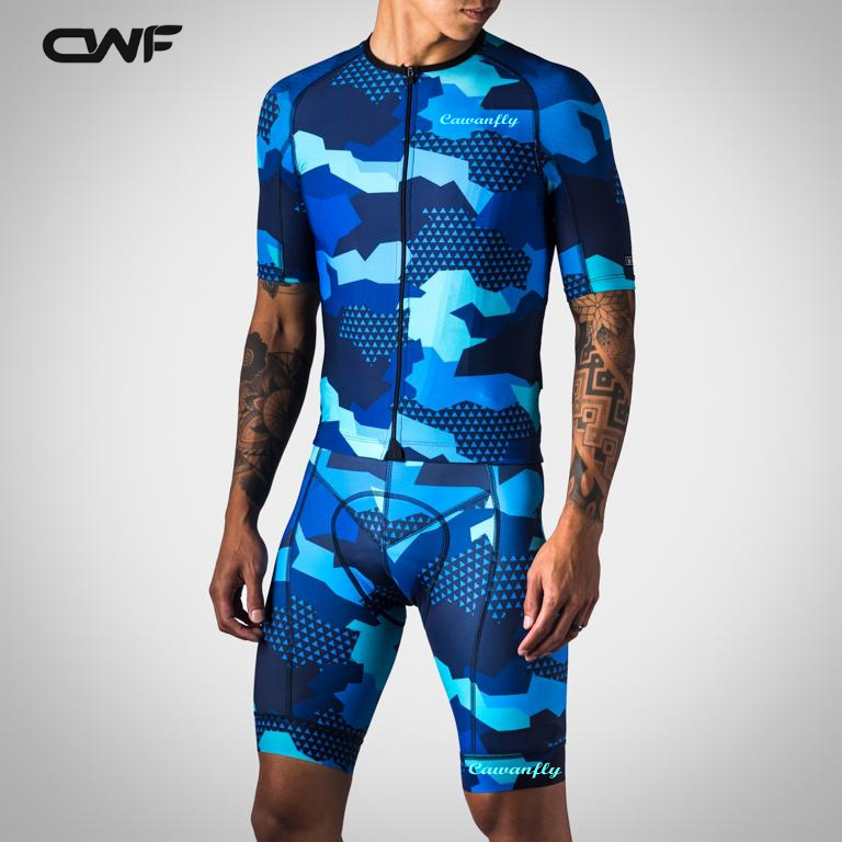 Cawanfly Cycling jersey set short sleeve men road bike mountain bike mtb pro team sets bicycle cycle clothing breathable