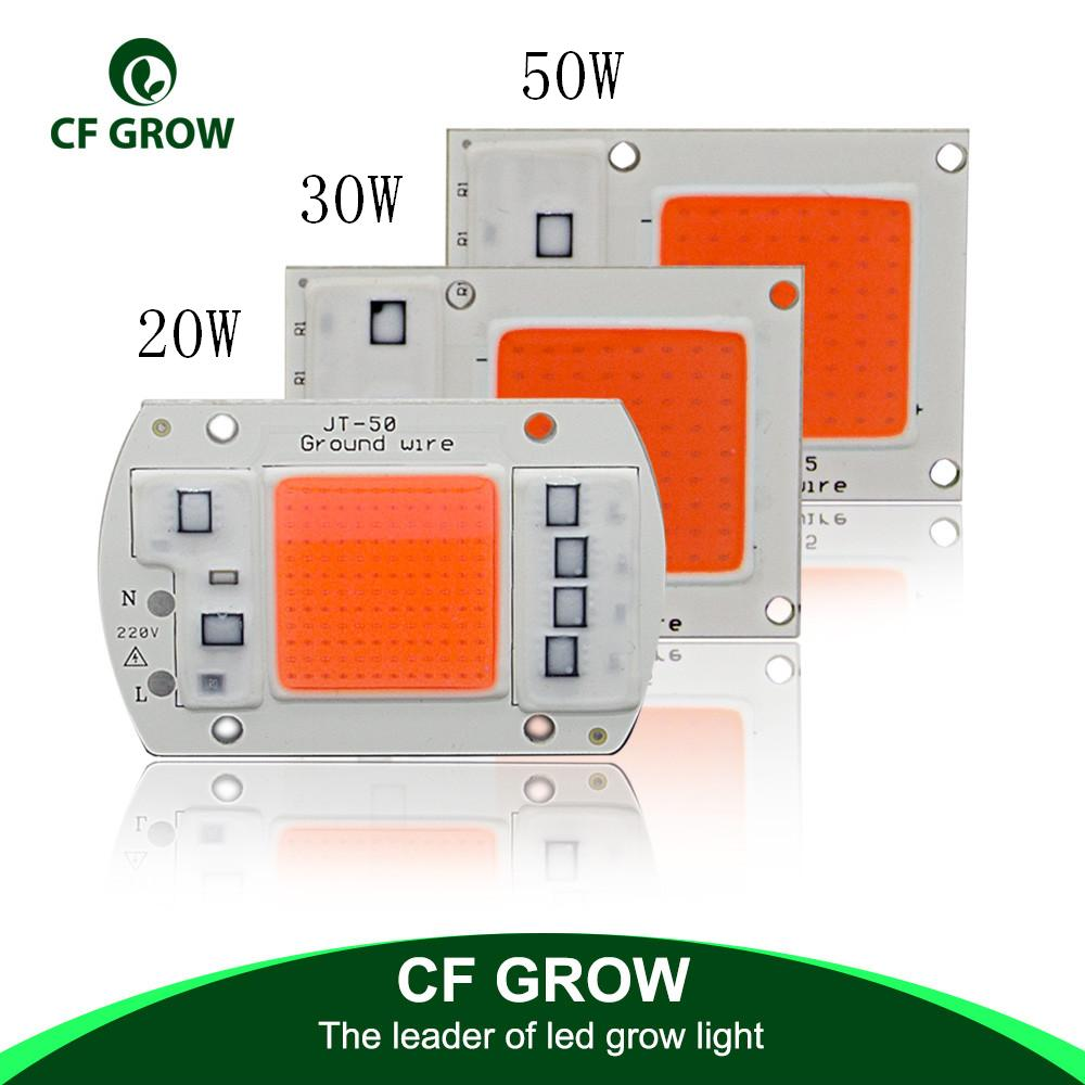 DIY AC <font><b>COB</b></font> <font><b>LED</b></font> <font><b>Grow</b></font> Light Chip 220V Real <font><b>Full</b></font> <font><b>Spectrum</b></font> 380~780nm Actrual Power 20W 30W <font><b>50W</b></font> Replace Sunlight for Indoor Plants image
