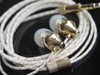 diy earphone Copper chamber pot White Snake covered wire
