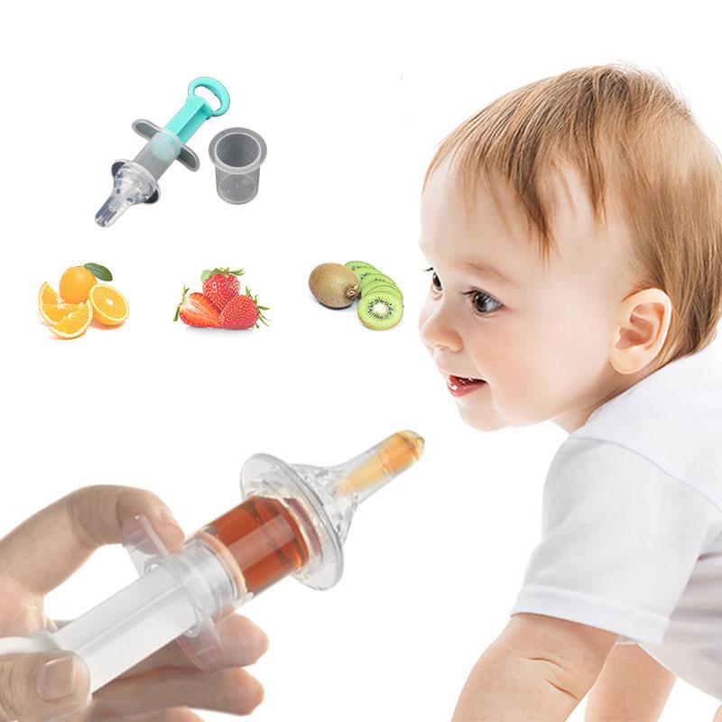 Baby kids smart medicine dispenser Needle Feeder Squeeze Medicine Dropper Dispenser Pacifier Feeding Utensils