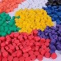 Frete grátis Dia10 * 5 MM 8 cores misturadas 10 pcs cada cor peças do jogo de xadrez De Madeira para jogo de tabuleiro/acessórios de jogos educativos