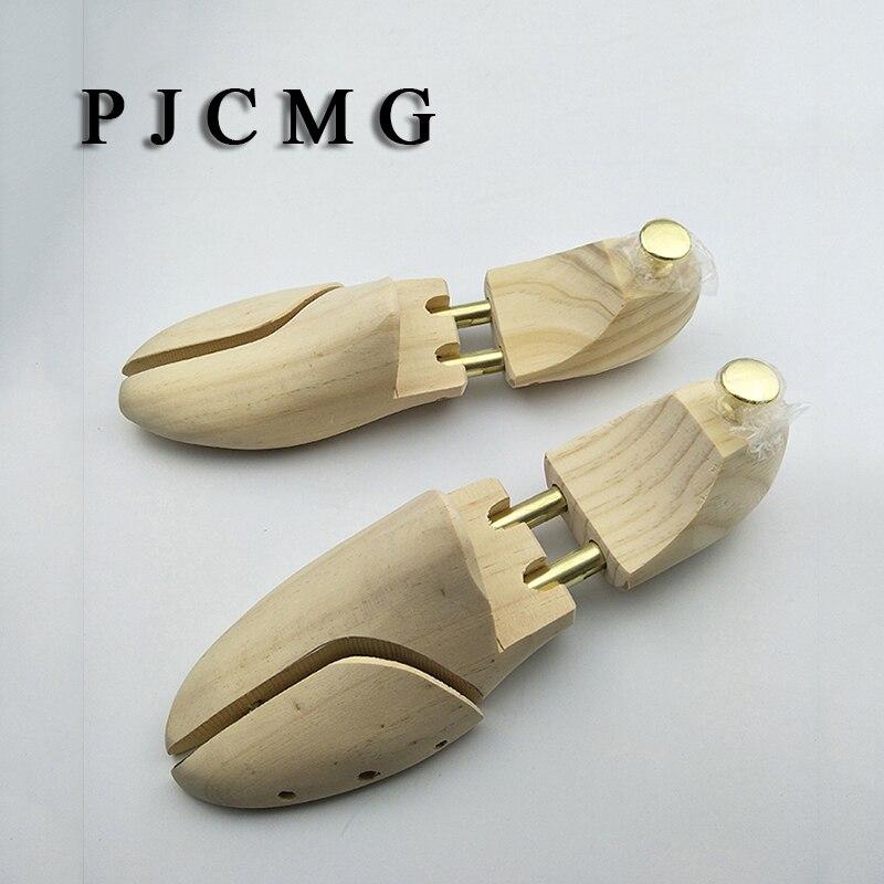 Männer Der Kiefer Holz Schuh Bäume Metall Knopf Einstellbare Länge Und Breite Schuh Pflege Schuhe