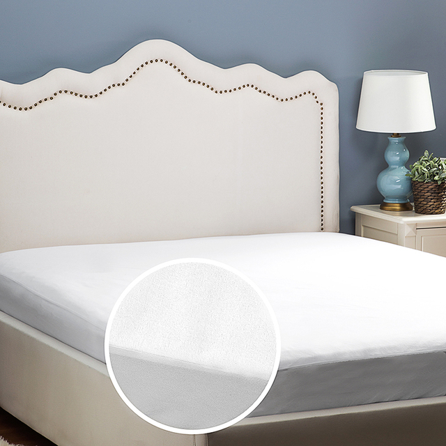 Naturelife Terry Waterproof Mattress Cover /Mattress Protector Cover For Bed  Wetting Ed Bug Breathable Bed