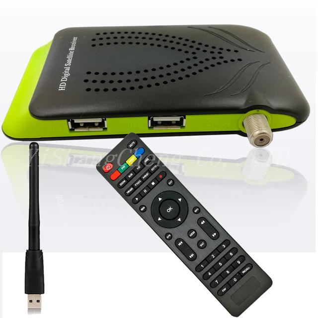 2017 HD DVB-S2 Receptor de Satélite Digital de Apoyo USB Wifi Cccam Gscam Poder Vu Youtube Wifi (no apoyo IPTV) Set Top Box