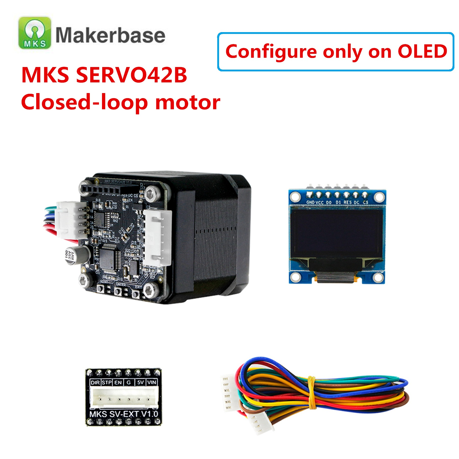 MKS SERVO42A / SERVO42B Closed-loop Stepper Motor Servo Stepper Motor SMT32 Close Loop Motor SERVO42 Control For 3d Printer Nema