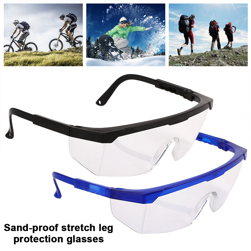 1Pcs Protective Glasses Work Safety Glasses Anti-Fog Windproof Goggles Adjustable Bicycle Cycling Goggles Outdoor Sports Eyewear
