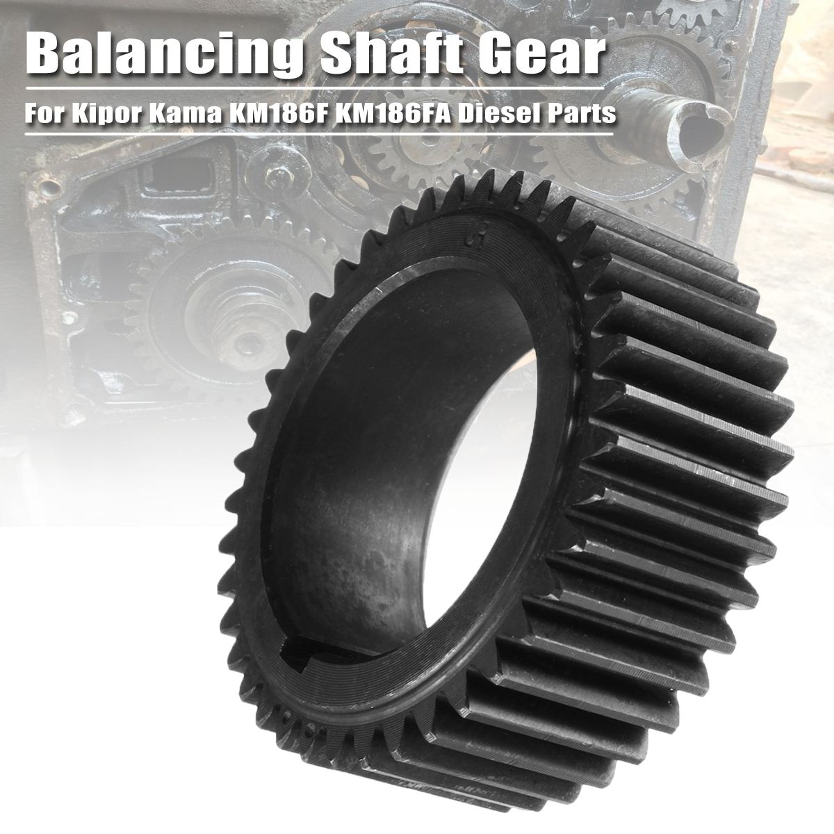1Pcs High Quality Balancing Shaft Gear Suitable For Kipor Kama KM186F KM186FA For Diesel Generator Parts