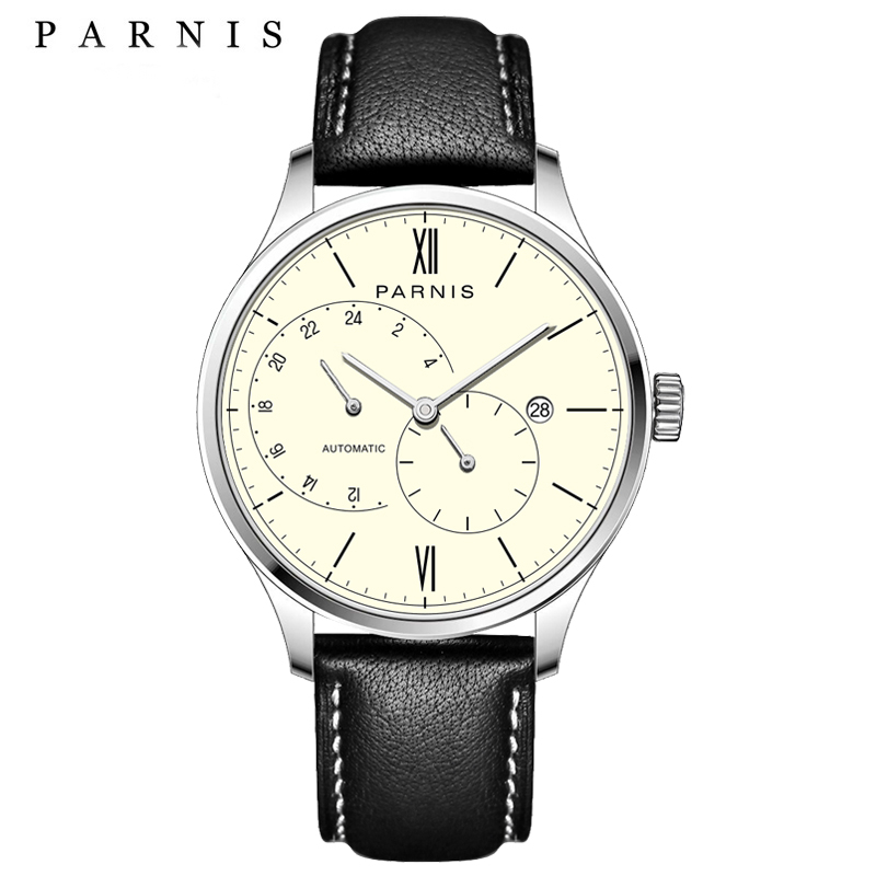 New Arrival 2017 Hot Parnis Automatic Mens Watches Ultra Thin Mesh - მამაკაცის საათები
