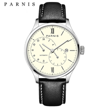 New Arrival 2017 Hot Parnis Automatic Mens Watches Ultra Thin Mesh Steel Band Leather Strap Men Mechanical Watches montre homme