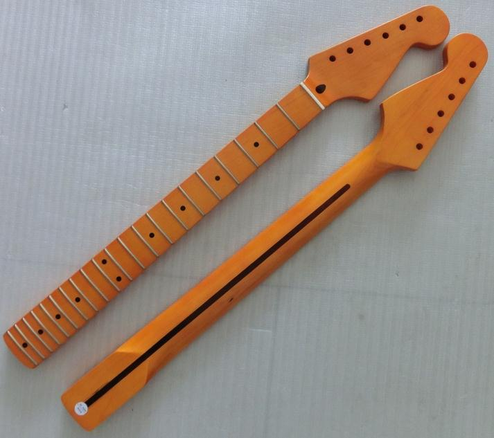21 Frets inlay puntos de Una Pieza de arce Cuello de la Guitarra Eléctrica Parte