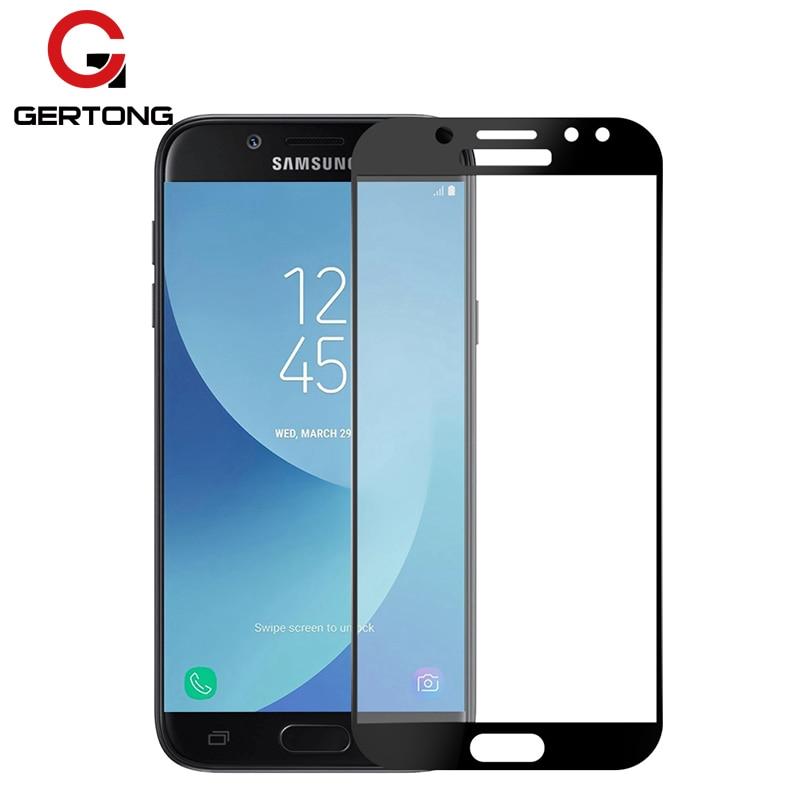 Galleria fotografica GerTong Full Cover Tempered Glass For Samsung Galaxy J5 J3 J7 2017 Screen Protector For Samsung J330 J530 J730 2017 Glass Film